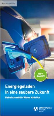 Cover des Flyers für Elektromobilität