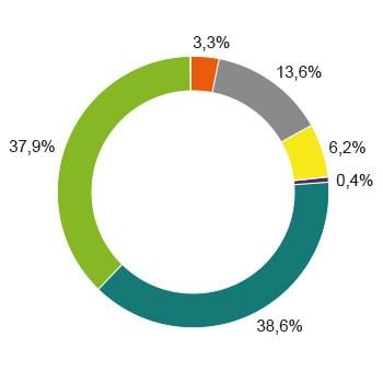 Strommix Gesamtstromlieferung Zusammensetzung Diagramm