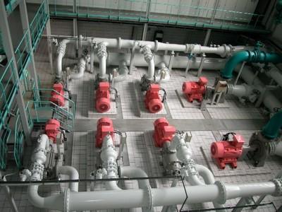 Bild Wasserwerk Pumpen- und Steuerungsanlage