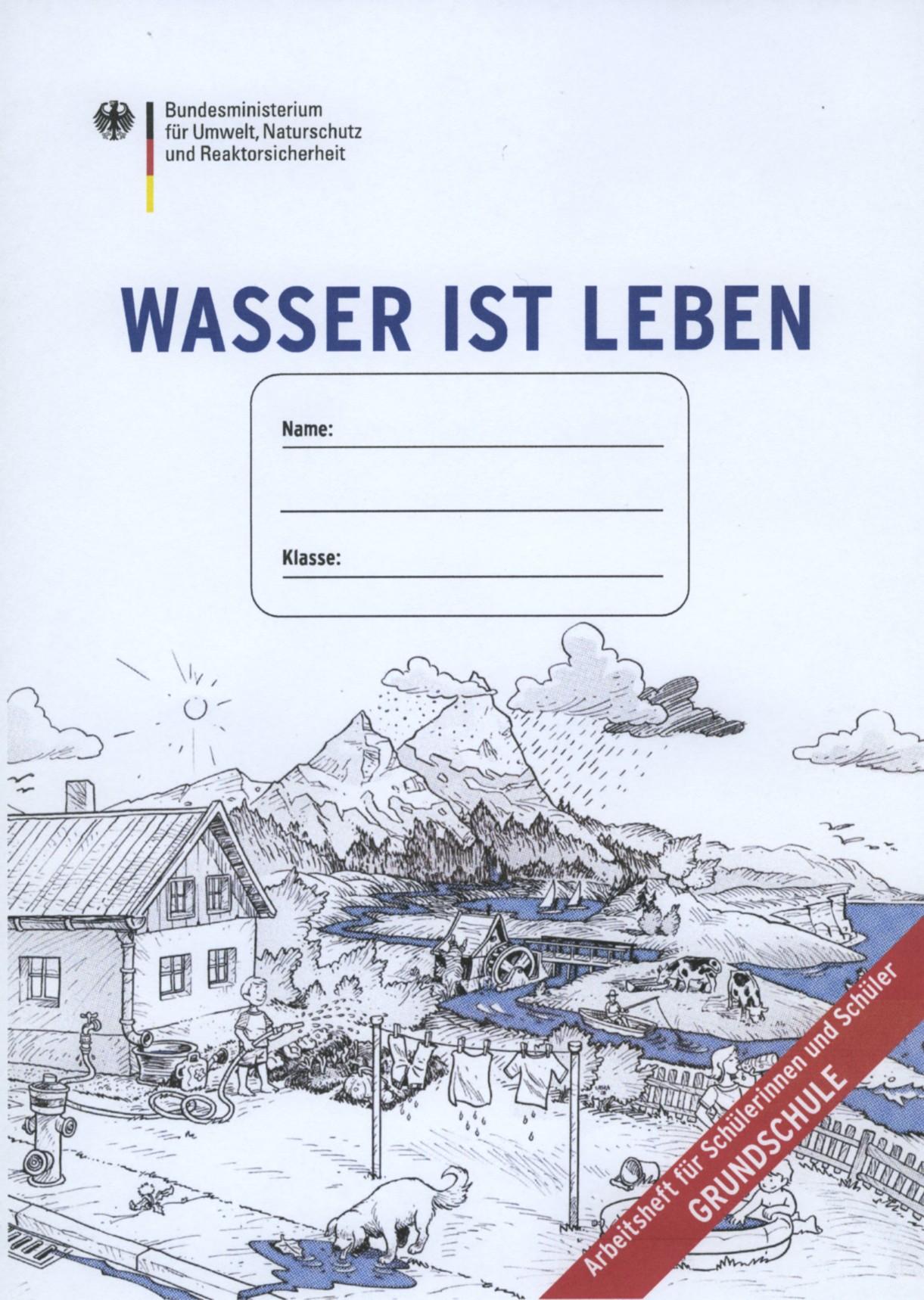 Deckblatt Wasser ist Leben Grundschule Schuelerheft